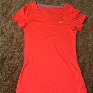Nike Pro Dri Fit V Neck T Shirt
